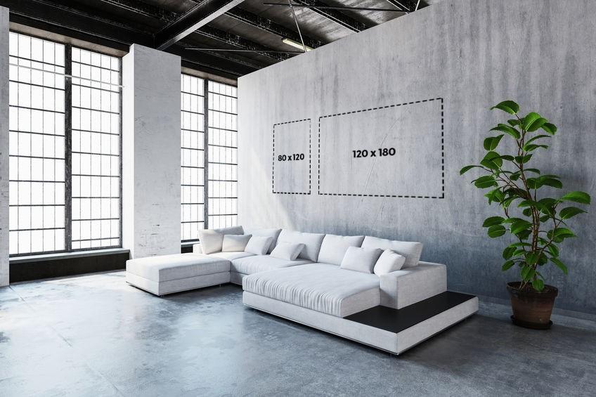 Bepaal het juiste formaat glasschilderij voor in uw ruimte